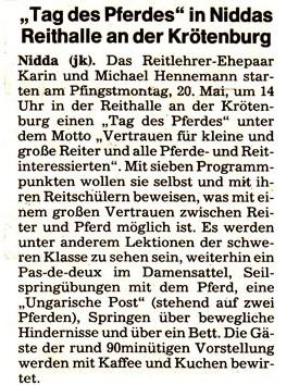 Tag des Pferdes Oberweider Hof, 1989