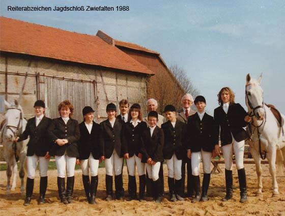 Reiterabzeichen Jagdschloß Zwiefalten 1988