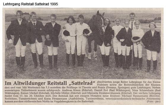 Lehhrgang Reitstall Sattelrad 1995