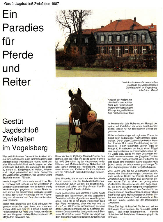 26. Gestüt Jagdschloß Zwiefalten 1987