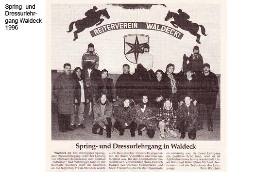 Spring und Dressurlehrgang Waldeck 1996